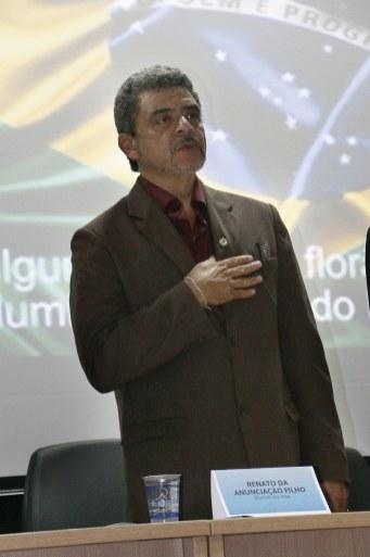 Execução do Hino Nacional - Renato da Anunciação Filho - Reitor do IFBA