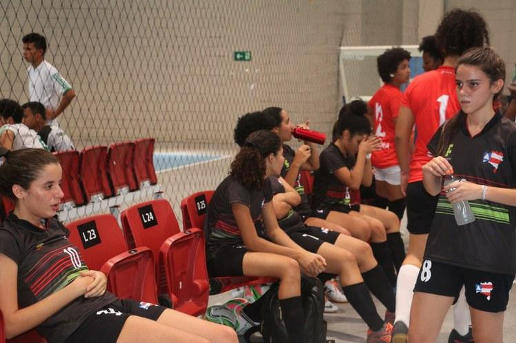 Banco do futsal feminino IFBA