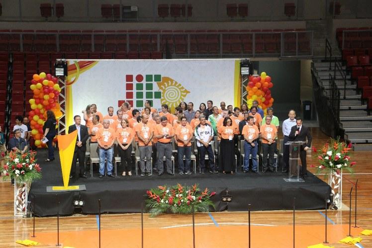 Cerimônia de abertura com a presença dos reitores dos IFs e autoridades do Estado do Ceará e do município de Fortaleza