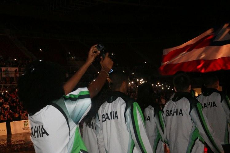 Entrada da delegação do IFBA