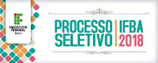 Processo seletivo 2018