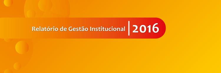 Relatório de Gestão Institucional 2016