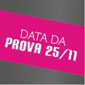 DATA DA PROVA: 25 DE NOVEMBRO