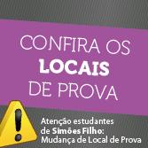Atenção estudantes de Simões Filho: Mudança de Local de Prova