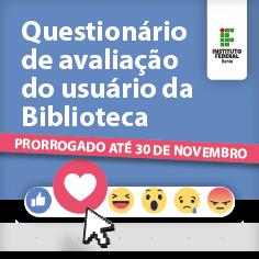 Pesquisa de avaliação do usuário da biblioteca - prorrogado até 30 de novembro