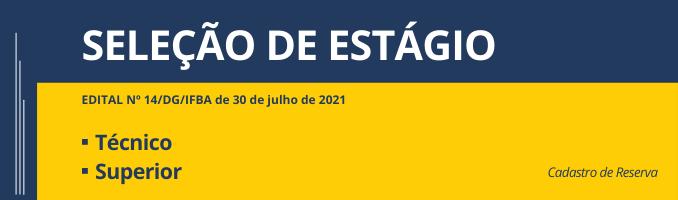 SELEÇÃO DE ESTÁGIO 2021